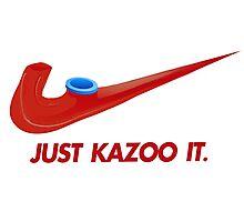 Kazoo kid - Just Kazoo It (Nike style) Photographic Print