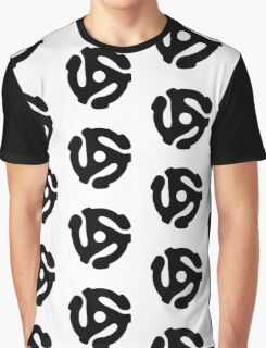45 Record Adapter Graphic T-Shirt