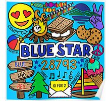 Blue Star Poster