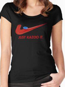 Kazoo kid - Just Kazoo It (Nike style) Women's Fitted Scoop T-Shirt