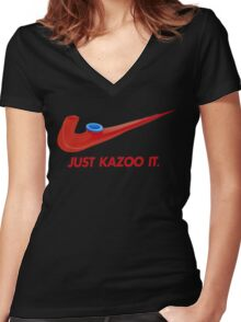 Kazoo kid - Just Kazoo It (Nike style) Women's Fitted V-Neck T-Shirt