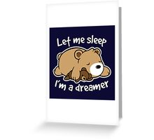 Dreamer bear Greeting Card
