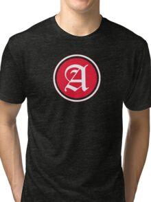 A Red Chevron Tri-blend T-Shirt