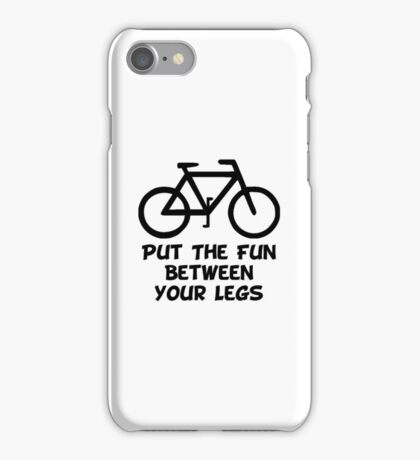 Bike Between Legs iPhone Case/Skin