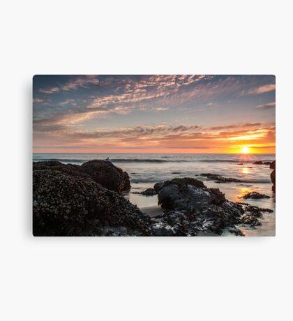 Lincoln City Beach Sunset - Oregon Coast Canvas Print