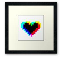 Heart so Pixel Framed Print