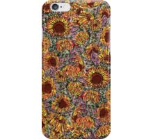 Sunflower repeating pattern iPhone Case/Skin