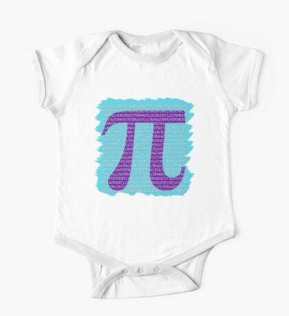 Colorful Pi Day Art One Piece - Short Sleeve