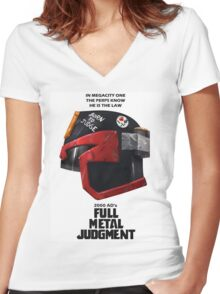 Full Metal Mashup!!! - Born to Judge Women's Fitted V-Neck T-Shirt