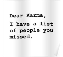 Dear Karma Poster