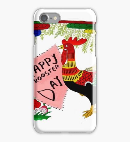 Happy Rooster Day! iPhone Case/Skin