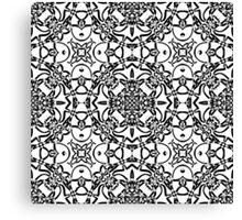 black and white vintage pattern Canvas Print