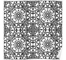 black and white vintage pattern Poster