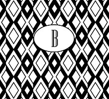 B Diamonds by MonogramMonkey