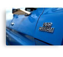1977 Ford F 150 Custom Name Plate Canvas Print