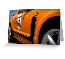 2007 Orange Ford Mustang Saleen Boss 302 Greeting Card