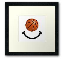 Basketball Smile Framed Print