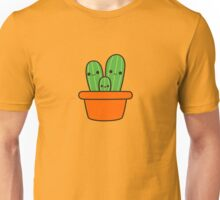 Cute cactus in orange pot Unisex T-Shirt
