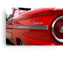 1963 Ford Falcon Name Plate Canvas Print