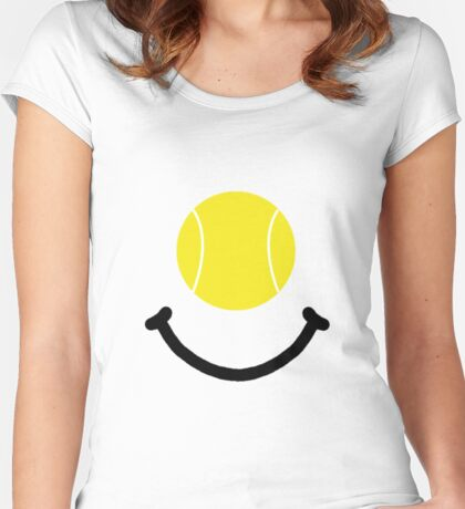Tennis Smile Women's Fitted Scoop T-Shirt