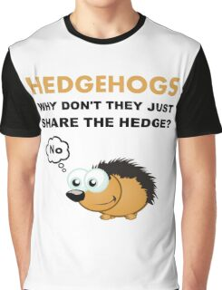 Hedgehog Share Graphic T-Shirt