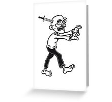 zombie funny knife cool Greeting Card