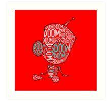 Invader Zim - Gir DOOM 2 Art Print