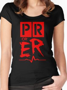 PR or ER Women's Fitted Scoop T-Shirt