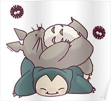 Totoro & Snorlax Poster