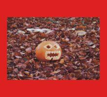 Pumpkin and Beech Leaves Kids Tee