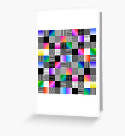 Mondrian Couture Greeting Card