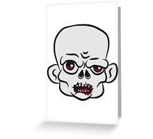 head zombie funny Greeting Card