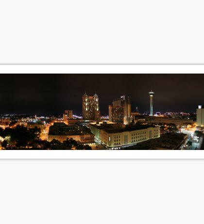 San Antonio TX Downtown Landscape Sticker