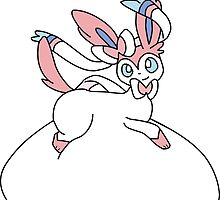 Fat and Happy Sylveon by ThePlumpSylveon
