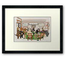 Gentlemens Poker Framed Print