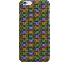 K115 Purple, Gold and Green Stamp Pattern Design  iPhone Case/Skin