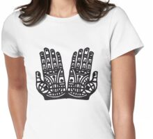 protecting hands t-shirt Womens Fitted T-Shirt