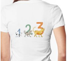 1, 2, 3 cats Womens Fitted T-Shirt