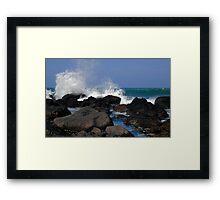 Causeway Waves Framed Print