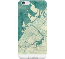 Dubai Map Blue Vintage iPhone Case/Skin