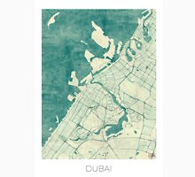 Dubai Map Blue Vintage Unisex T-Shirt