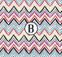 B Chevrony by MonogramMonkey