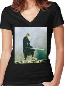 Travis Scott Jedi  Women's Fitted V-Neck T-Shirt