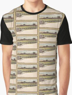 1890s Melbourne Cricket ground litho Graphic T-Shirt