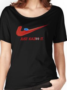 Kazoo kid - Just Kazoo It (Nike style) (faced) Women's Relaxed Fit T-Shirt