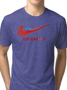 Kazoo kid - Just Kazoo It (Nike style) (faced) Tri-blend T-Shirt