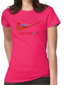 Kazoo kid - Just Kazoo It (Nike style) (faced) Womens Fitted T-Shirt