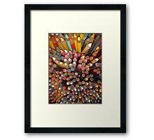 Pencil tips Framed Print
