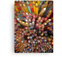 Pencil tips Canvas Print