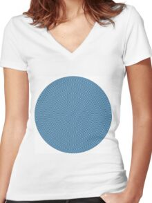 psychedelic spiral Women's Fitted V-Neck T-Shirt